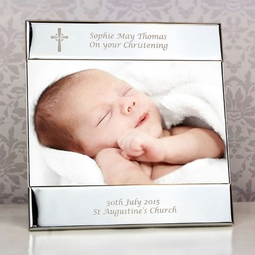 Personalised Silver Cross Square 6x4 Frame